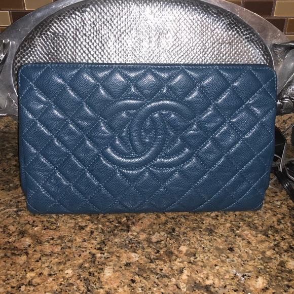 365b14364c7a CHANEL Bags | Blue Clutch | Poshmark